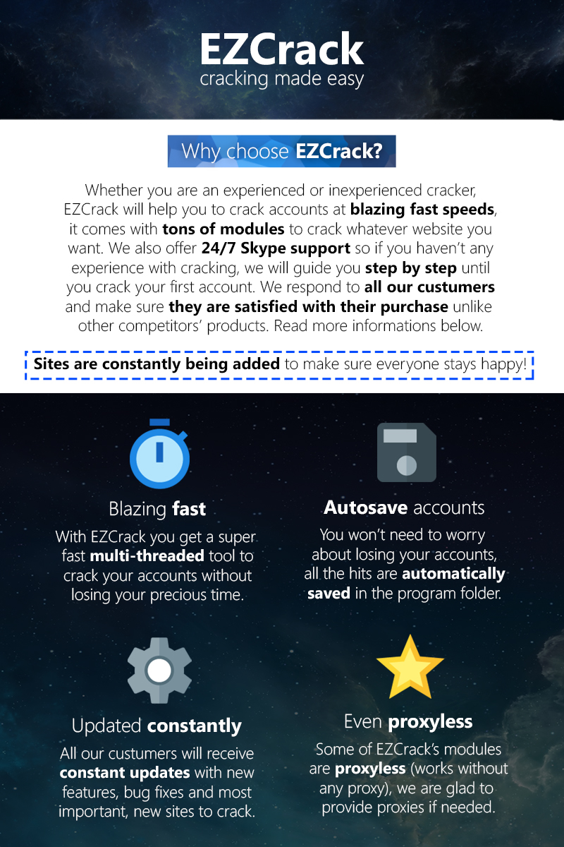 Cracking Tools: EZCrack v1 7 Account Cracker (LoL,Hulu,29+ other sites)