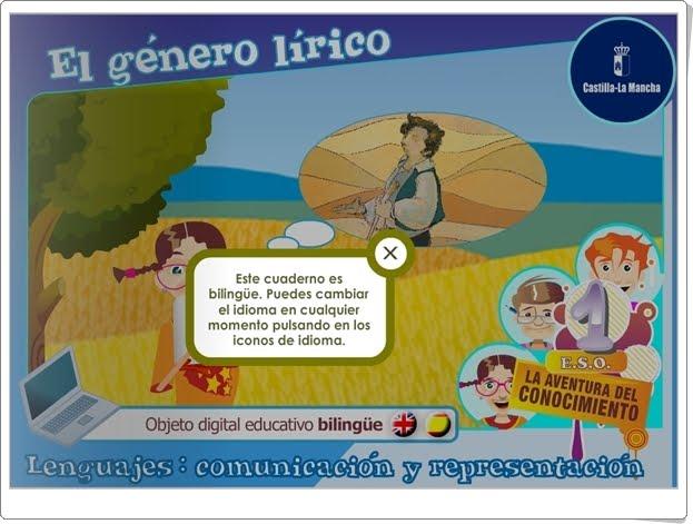 """El género lírico"" (Aplicación interactiva bilingüe de Lengua Castellana de 1º de Secundaria)"