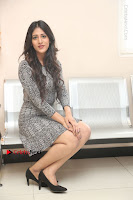 Actress Chandini Chowdary Pos in Short Dress at Howrah Bridge Movie Press Meet  0144.JPG