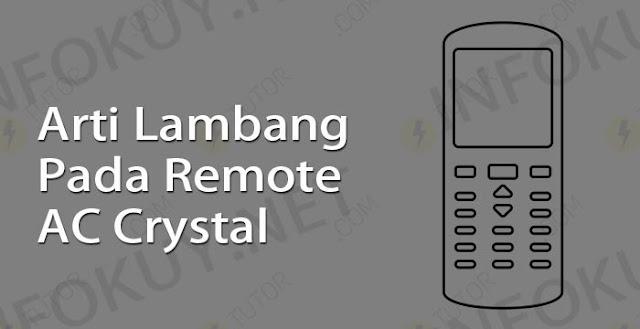 arti lambang pada remote ac crystal