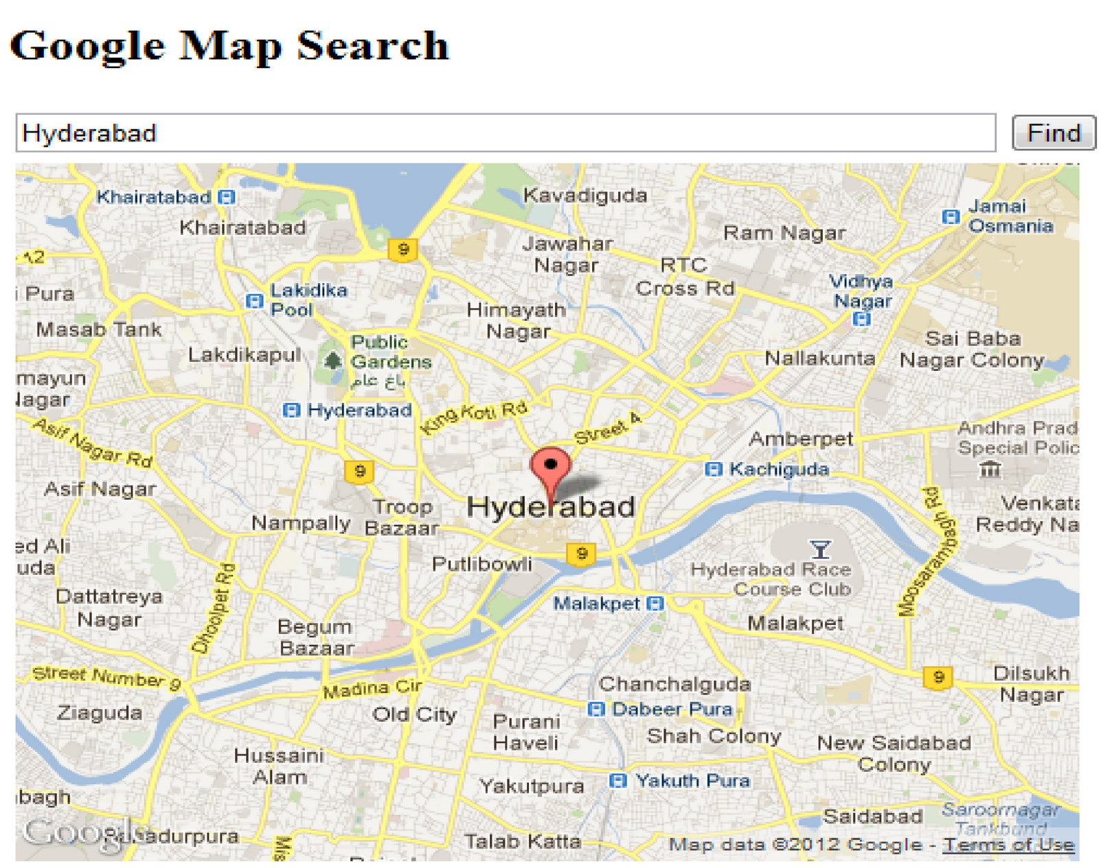 Net Tutorial: How to implement Google Mapping with search keyword ...