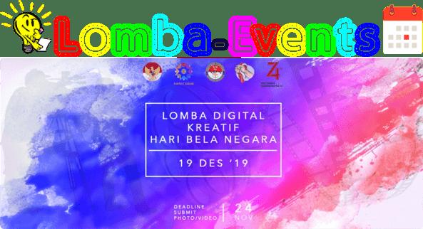 Lomba Video & Foto Digital Kreatif Hari Bela Negara 2019 Umum Gratis