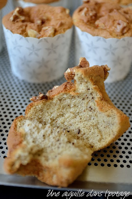 Chiffon cake miel et noix