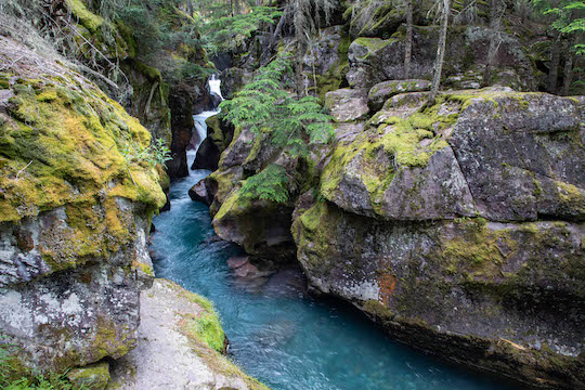 Avalanche Creek slot canyon