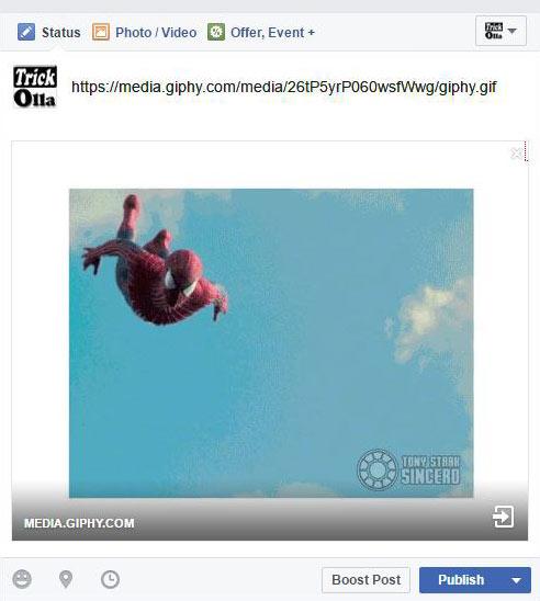 upload gif in facebook