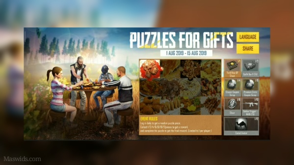 skin pubg gratis puzzles for gifts