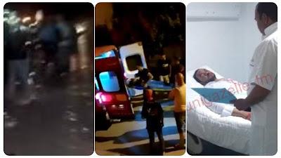عاجل / بالفيديو و الصور : تعرض شاب بشير الى بركاج مما استوجب نقله الى المستشفى