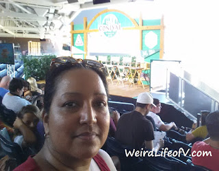 Taking a selfie with the stage was one of the scavenger hunt tasks