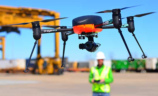 Drones can detect a person with COVID-19 symptoms