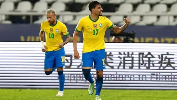 Paquetá marca no 1º tempo, Brasil vence o Peru e está em sua 16ª final da Copa América