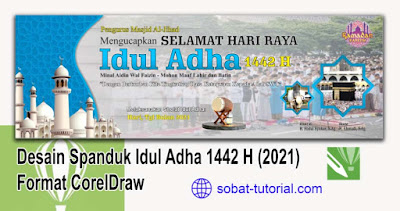 Download Desain Spanduk Idul Adha 1442 H (2021) Format CorelDraw
