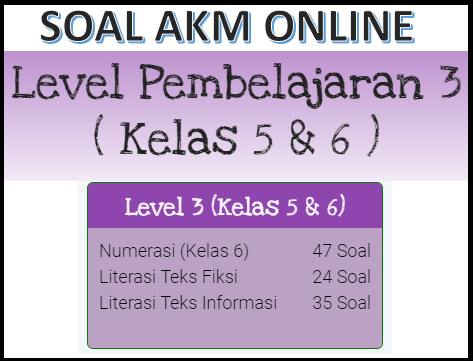 Contoh Soal Akm Dan Kunci Jawaban Kelas 5 Dan 6 Sd Level 3 Kherysuryawan Id