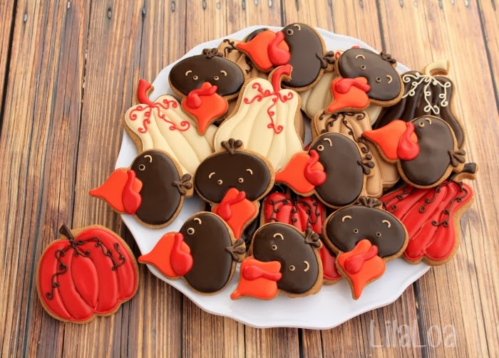 Decorated Turkey Head Cookies