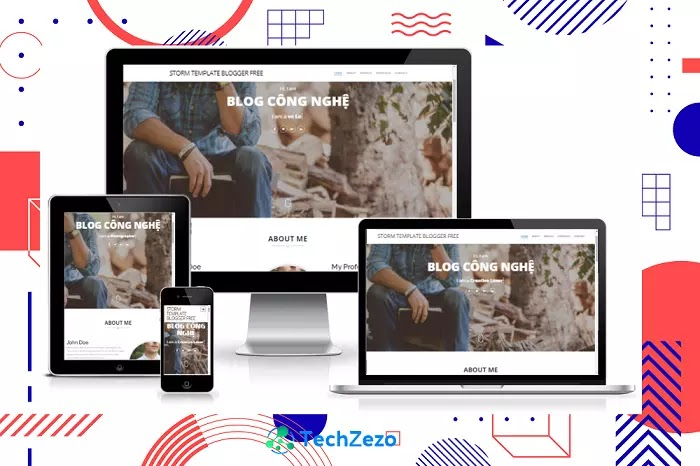 Storm Responsive Blogger Template Free Download 2021