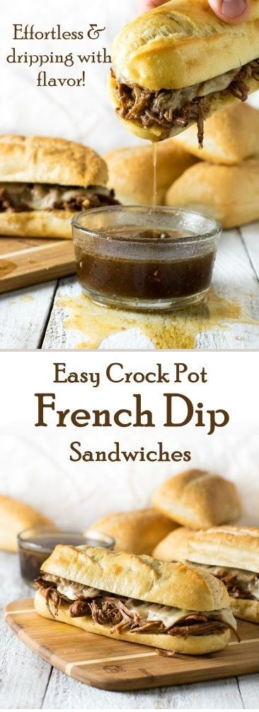 Easy Crock Pot French Dip Sandwiches
