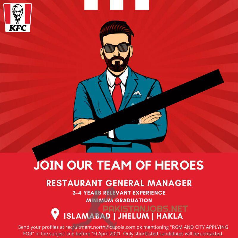 KFC Jobs | Restaurant General Manager Jobs at KFC | 2021