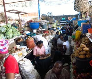 South Kenyan food market