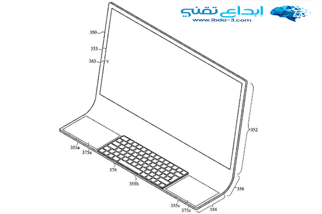 لاول مرة شركة آبل تسجل براءة إختراع لجهاز Mac زجاجي متكامل