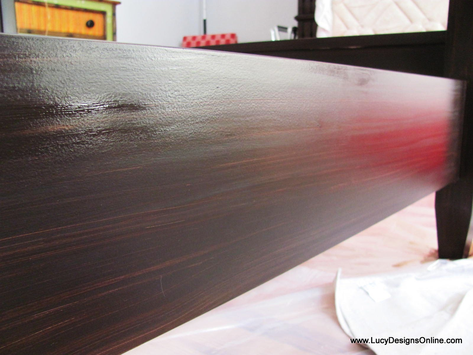 Gel Stain over White Furniture   Lucy Designs