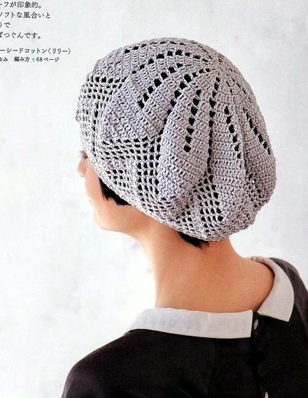 Patrón #1149: Boina a Crochet