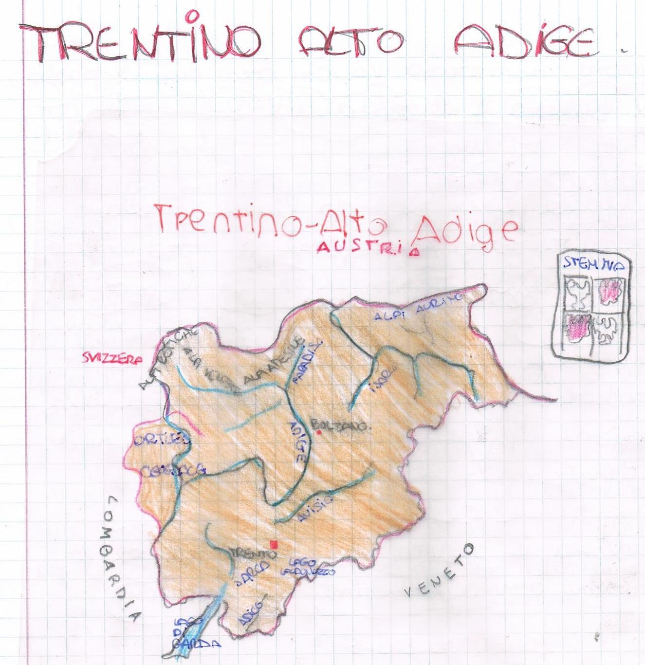 Fiumi Del Trentino Alto Adige Cartina.Geografia Le Regioni D Italia Il Trentino Alto Adige Spiegazioni E Prova Di Verifica Per La Classe Quinta Della Scuola Primaria