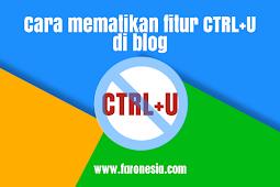 Cara mematikan fitur CTRL+U di blog