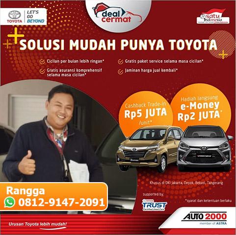 Harga Promo Dealer Toyota BSD City Tangerang Kredit Tanpa Bunga