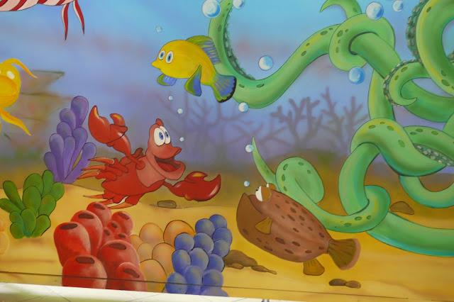 Malowanie pokoju chłopca, malowidło ścienne przedstawiające rafę koralową Toruń