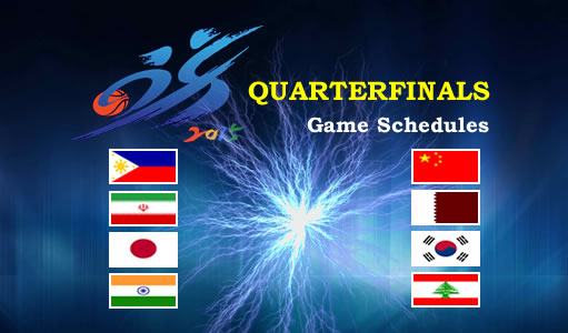 List of 2015 FIBA Asia Championship Complete Game Results Scores Schedules - QUARTERFINALS