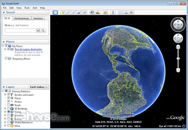 تحميل برنامج جوجل ايرث للكمبيوتر