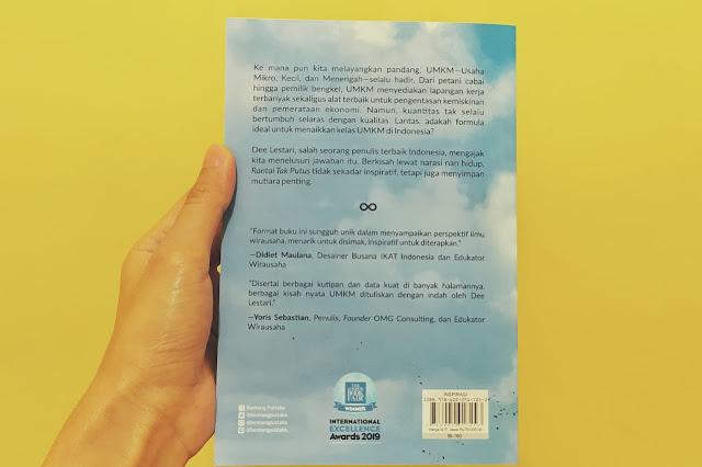 Back Cover Rantai Tak Putus - Dee Lestari