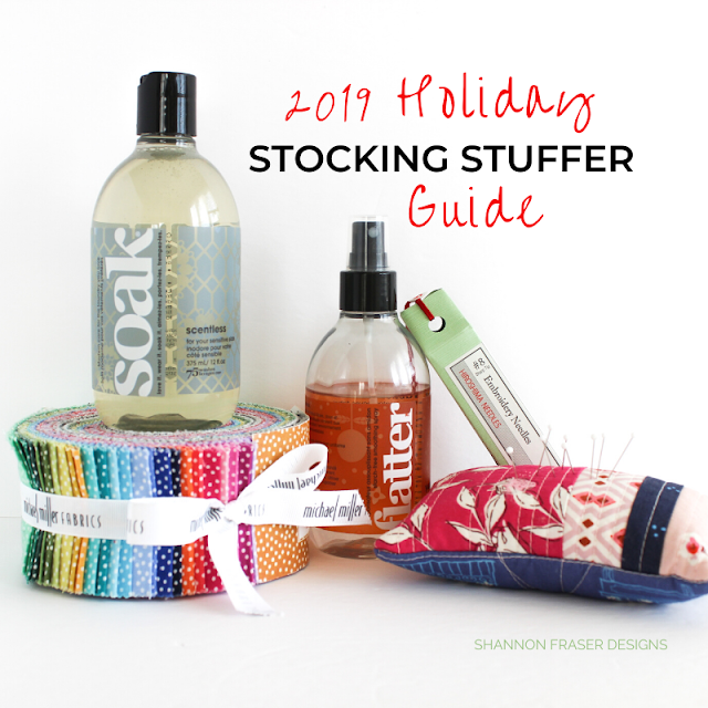 2019 Holiday Stocking Stuffer Guide for Quilters | Shannon Fraser Designs #giftideas #giftguide