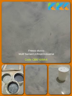 Sedia bahan cat stucco warna semen