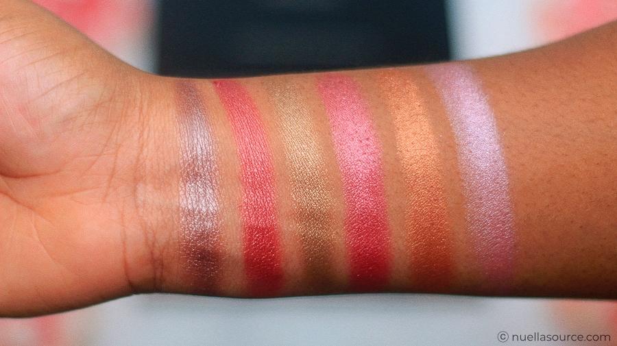 Focallure eyeshadow palette bright lux swatches