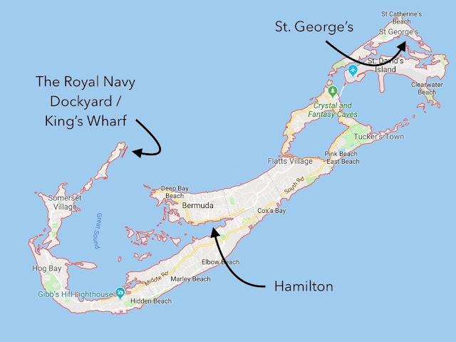 Cruise ship port Royal Navy Dockyard / Kings Wharf