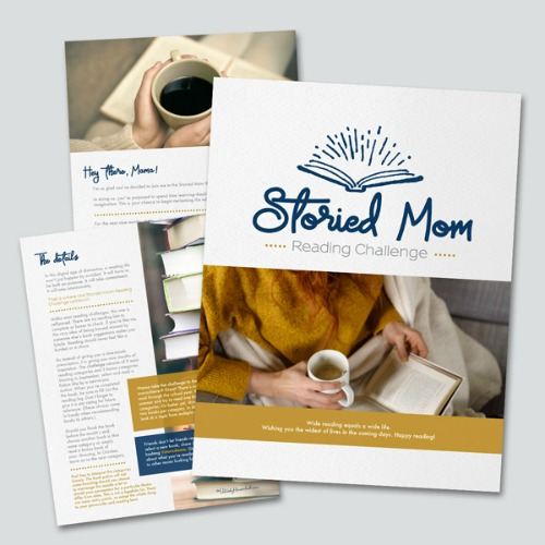 The Storied Mom Reading Challenge #storiedmom #cleanandcaptivating #readinglifestye #christianbooks #christianmoms #motherculture