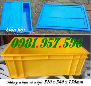Thùng nhựa B4, hộp nhựa B4, thùng nhựa có nắp
