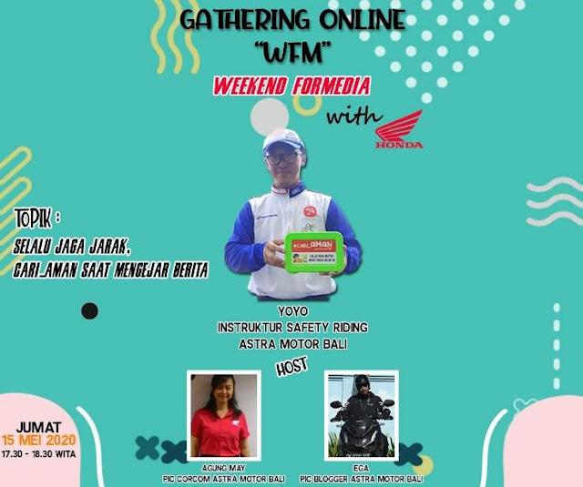 Gathering Online Astra Motor Bali Bahas Cari Aman