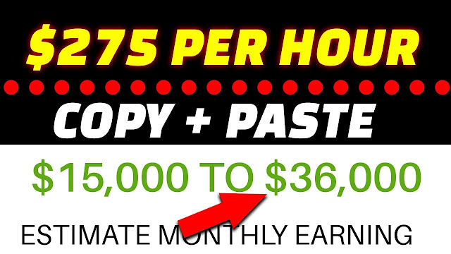 Earn $275 For COPY & PASTING PHOTOS [Make Money Online As A Beginner]