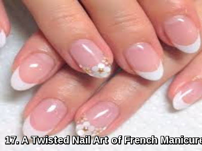 A Twisted Nail Art of French Manicure