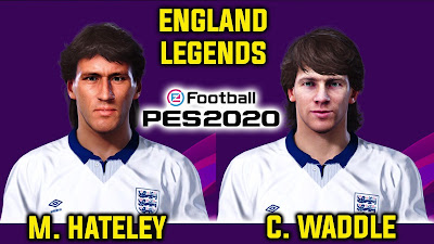 PES 2020 Faces Mark Hateley & Chris Waddle by Andri Mod