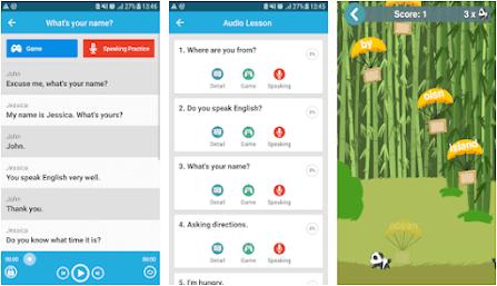 Aplikasi belajar bahasa inggris offline - learn english conversation
