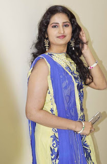 Telugu Serial Actress Ankitha Stills In Yellow Dress (1)