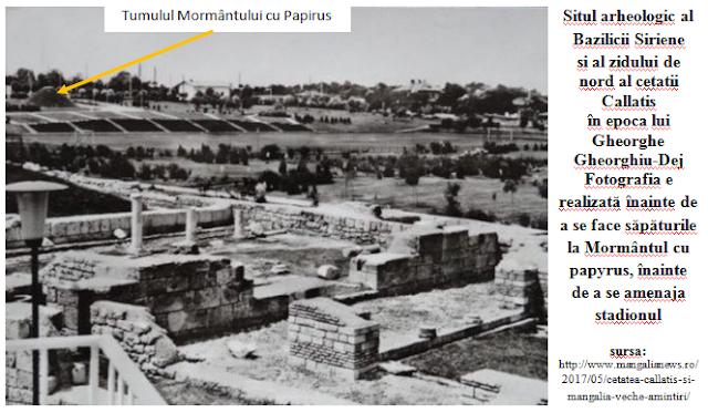 Tumulul Mormantului cu papirus inainte de demolare
