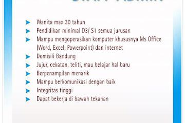 Lowongan Kerja Staff Admin Center Bandung Angel