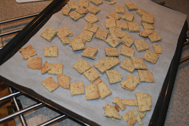 Almond Jalapeño Crackers- Fresh out of the oven