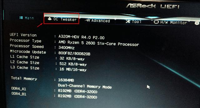 Overclock DDR4 GeIL Ram Super Luce AMD Edition 3000Mhz at A320M