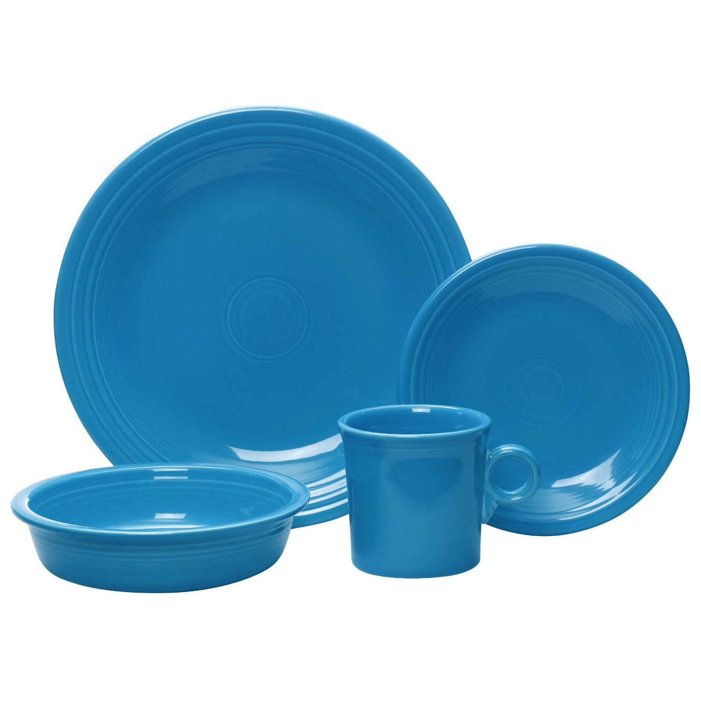 best dinnerware sets: Fiesta 4-Piece Dinnerware Place Setting