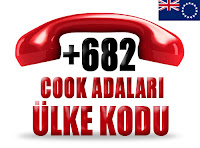 +682 Cook Adaları ülke telefon kodu