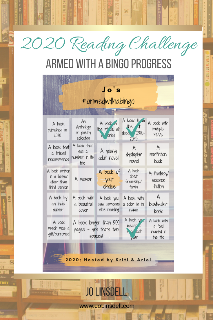 Armed With A Bingo Reading Challenge: January 2020 Progress